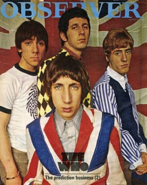 The Who on the cover of the Observer Magazine, 20 March 1966