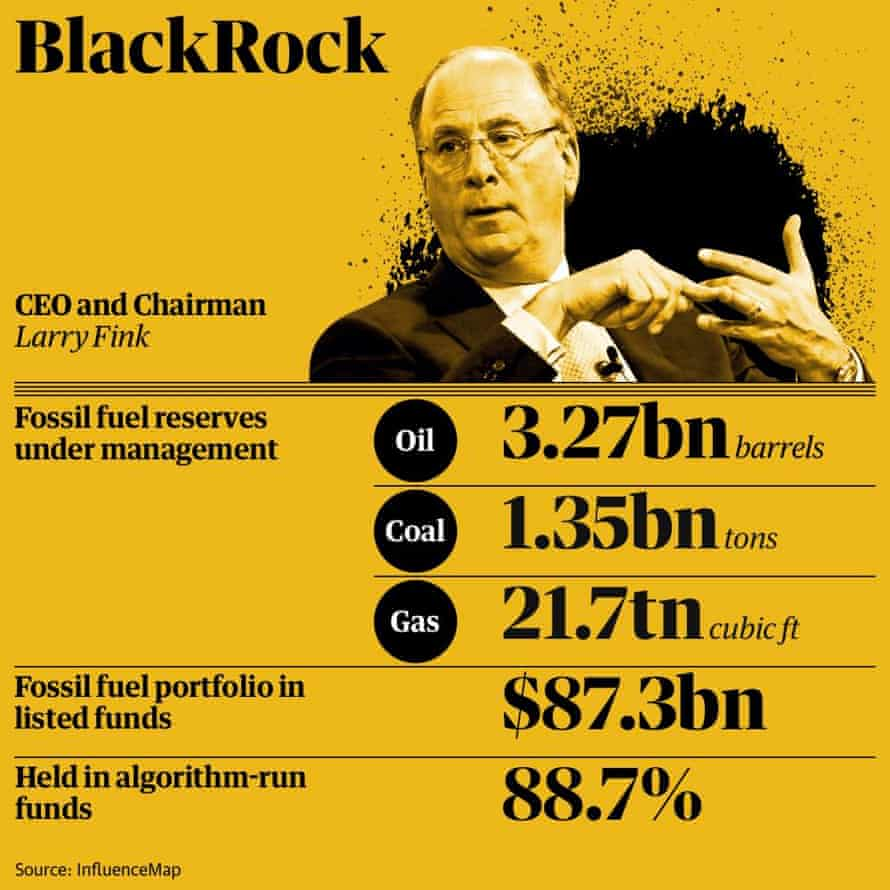 BlackRock's fossil fuel investments