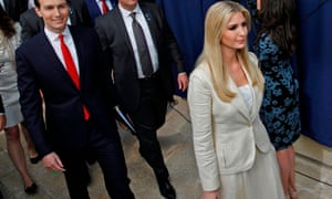 Ivanka Trump and her husband Jared Kushner arrive for the inauguration of the US embassy in Jerusalem.