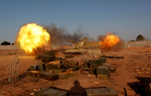 Libyan forces allied with the UN-backed government shell Islamic State positions in Sirte