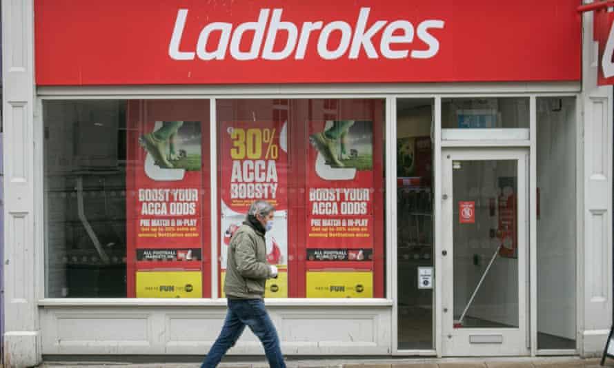 A Ladbrokes betting shop in Wimbledon, south London