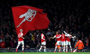 Arsenal celebrates.