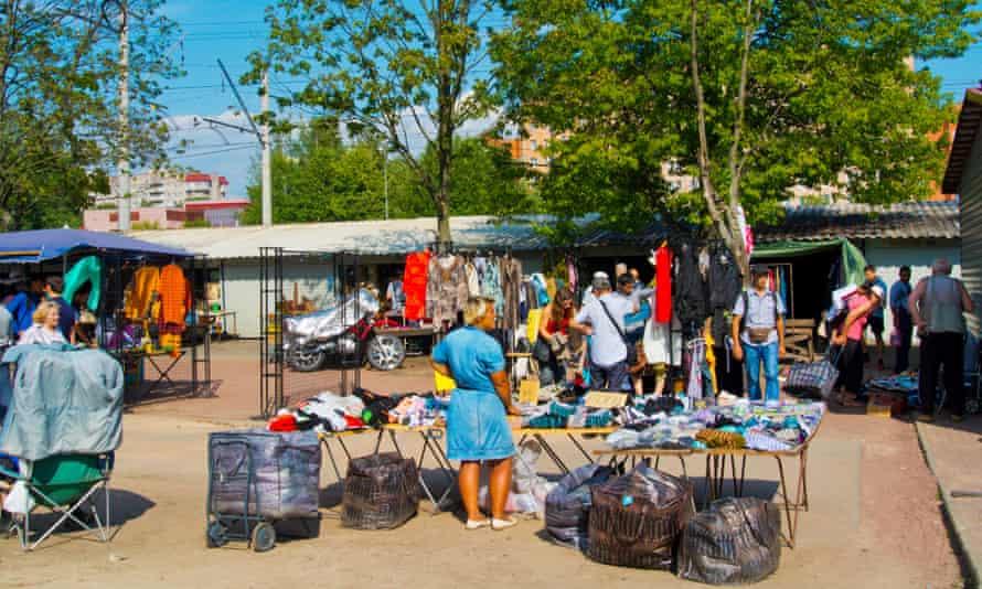 Flea market, Udelnaya market, Udelnaya district, Saint Petersburg, Russia