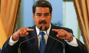Venezuelan president Nicolás Maduro speaks during a press conference at the presidential palace of Miraflores in Caracas in February.