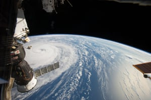 This NASA handout image released today shows Super Typhoon Noru photographed by astronaut Randy Bresnik in the Northwestern Pacific Ocean as the International Space Station passed 250 miles overhead