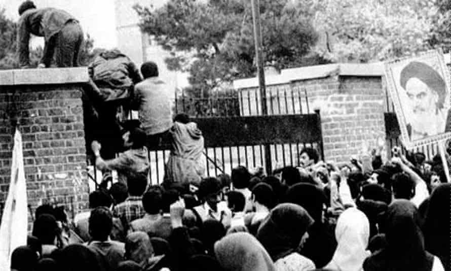 The occupation of the US embassy in Tehran, Iran, 1979.