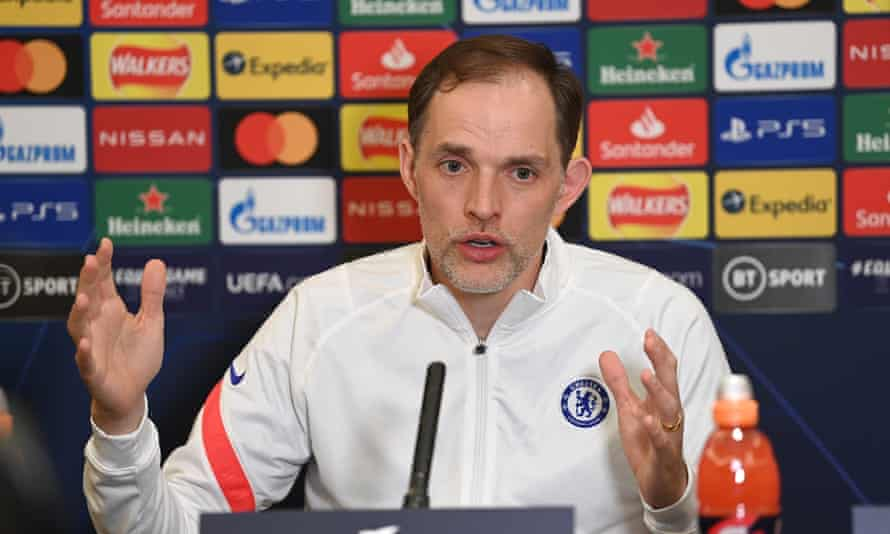 Thomas Tuchel at his pre-game press conference