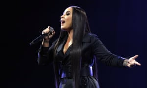 'Vulnerable but resolute' ... Demi Lovato performing at the O2 Arena, London, 25 June 2018.
