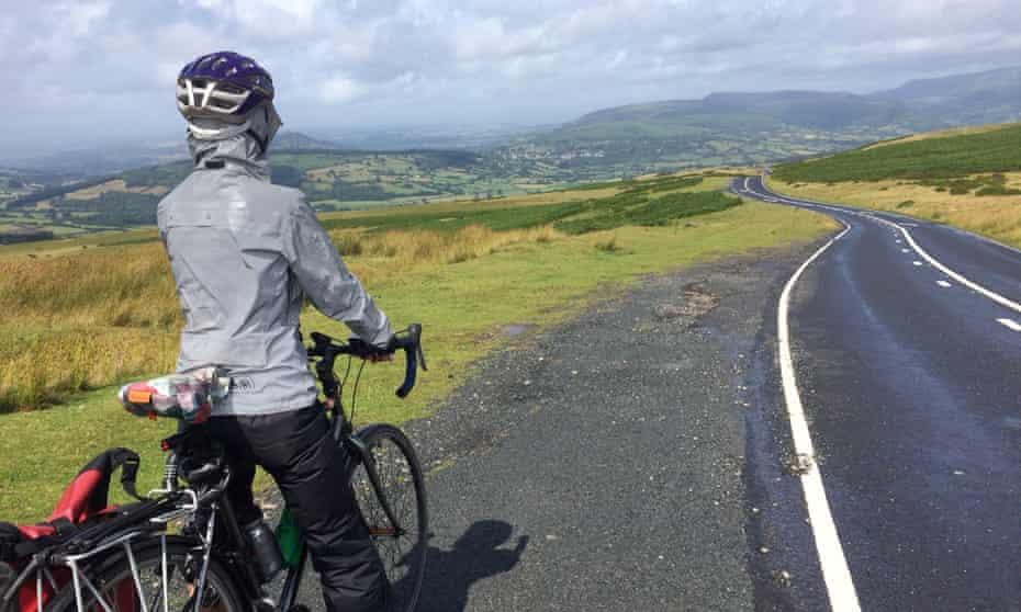 Anna Hughes. A rare break in the clouds in Wales