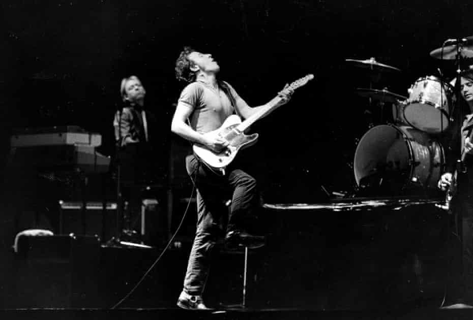 Bruce Springsteen in concert in Toronto, January 20, 1981.