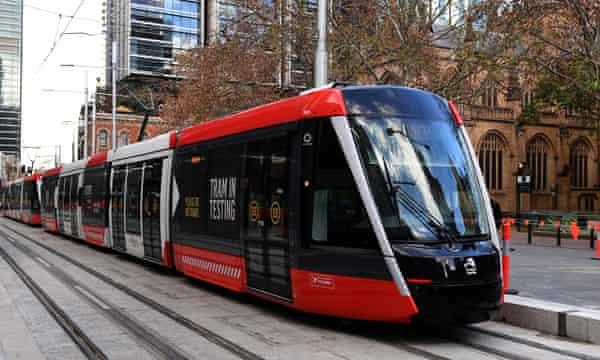 Sydney's new trams begin testing on George Street in July.