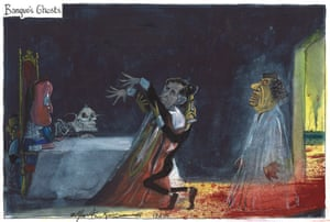 Banquo's Ghosts, Martin Rowson, published Guardian, 17 February 2015