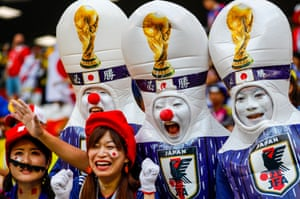 Japan fans in Saransk ahead of the match with Colombia.