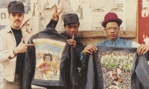 The jean jacket as graffiti art's first canvas in Brooklyn, circa 1983.