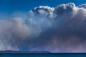 Smoke seen in the distance near Tuncurry, NSW