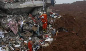Furniture is pictured among the debris of collapsed buildings after the landslide hit an industrial park in Shenzhen.