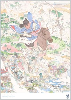 Horseback Archery by painter Akira Yamaguchi