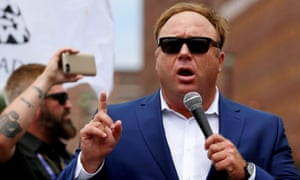 Alex Jones of Infowars, who has falsely claimed that the Sandy Hook murders were faked.