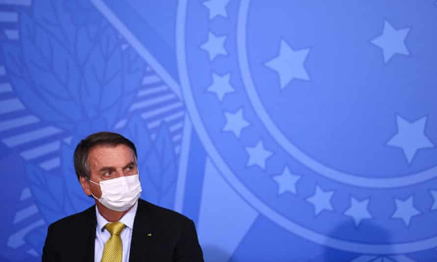 Jair Bolsonaro in Brasília. With over half a million Covid-19 deaths and more new cases daily than any other country, anger is mounting in Brazil over missed opportunities to buy vaccines.