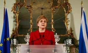 Nicola Sturgeon at her press conference.