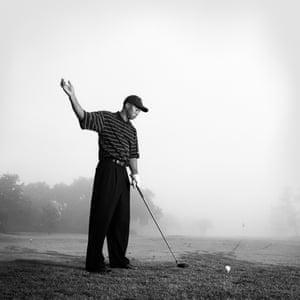 Golfer Tiger Woods, in Orlando, Florida in 2002
