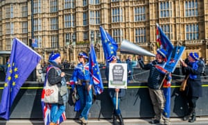 Pro and anti Brexit protests in London.