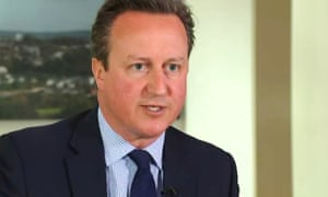 David Cameron during his ITV News interview with Robert Peston.