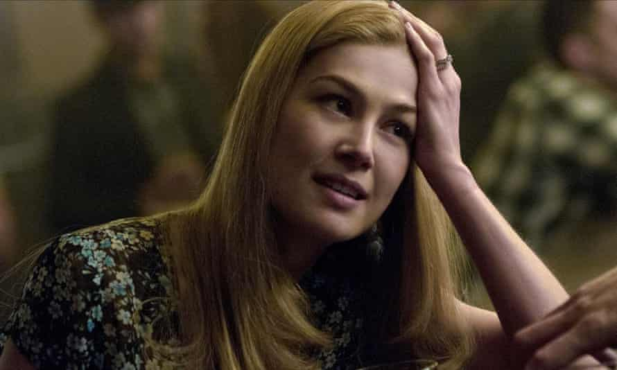 Rosamond Pike in the film adaptation of Gone Girl.