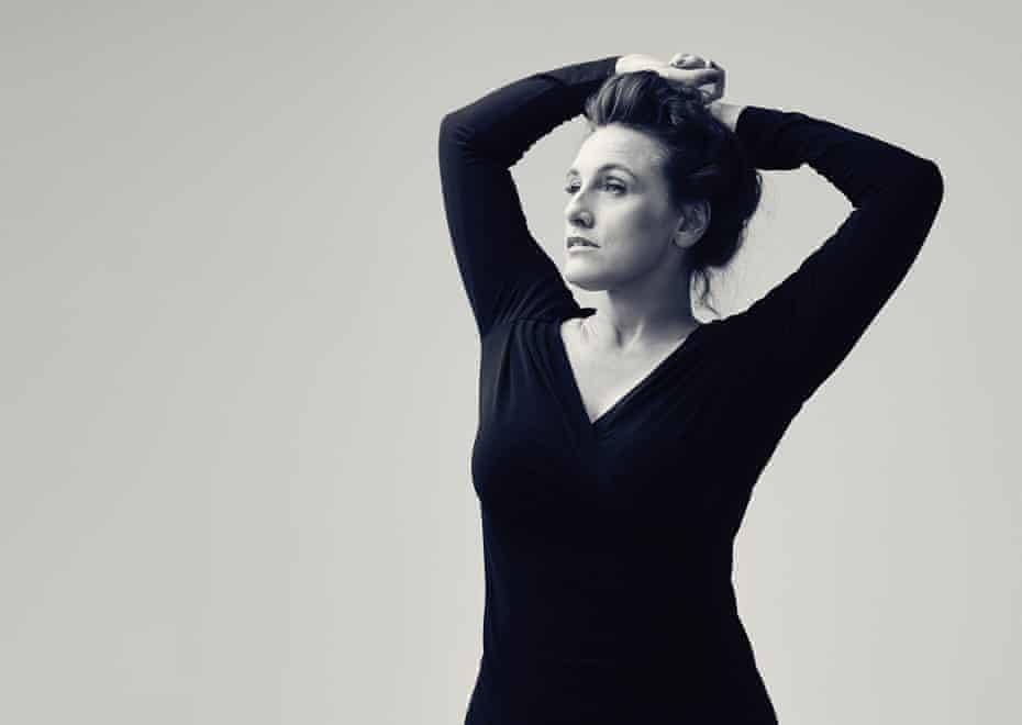 Grace Dent in a black dress