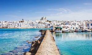 End of the line … the writer traveled overland all the way to the Greek island of Paros.