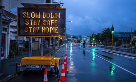 A near-deserted street in Wellington on Thursday