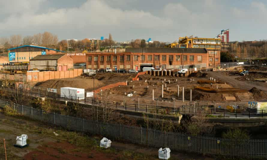 Regeneration of a brownfield site on the banks of the Ouseburn in Newcastle.