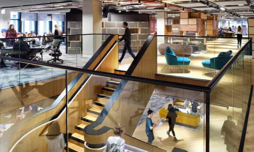 PwC is planning to redesign its UK offices in a similar style to its Birmingham site, seen here, which was recently refurbished.
