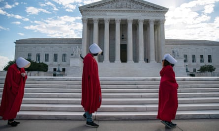 The former Democratic senator Claire MacCaskill chided progressives that 'they've got to realize that there is a better way than flooding the halls with women in handmaid costumes'.