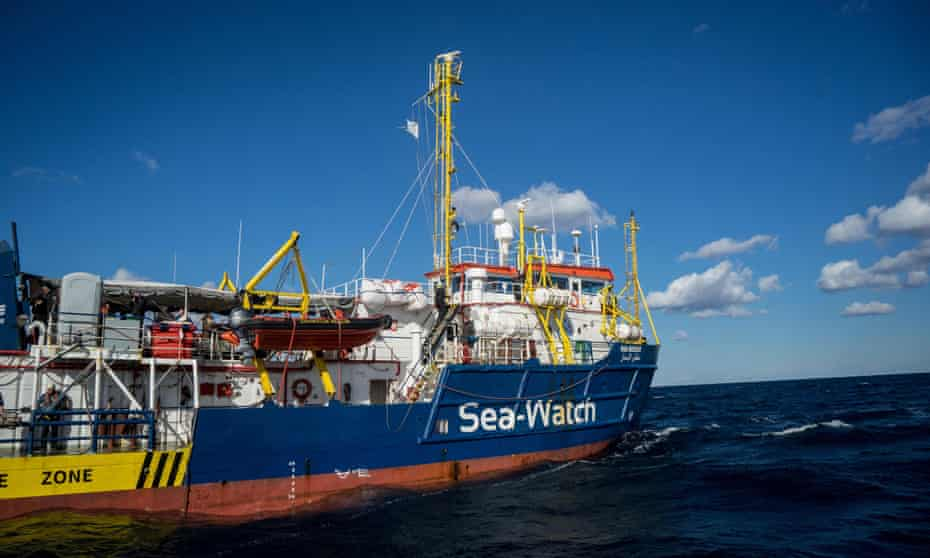 Rescue vessel Sea-Watch 3 on a mission in the Mediterranean