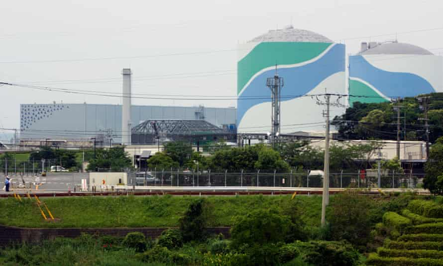 Sendai nuclear power plant in Kagoshima prefecture, south-west Japan.