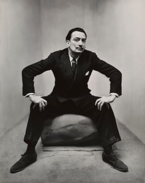 Salvador Dali in New York, 1947 by Irving Penn, from the Tate Modern show The Radical Eye