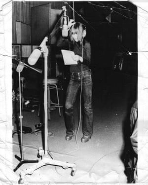 Eleanor Barooshian in a recording studio