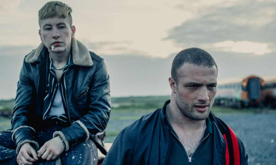 Barry Keoghan and Cosmo Jarvis in Calm With Horses.