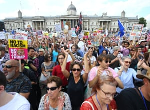 Demonstrators gather in Trafalgar Square