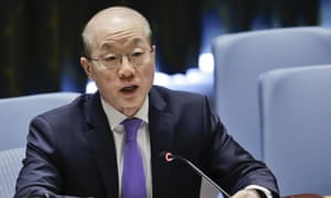Ambassador Liu Jieyi speaks during a UN security council meeting on non-proliferation of weapons of mass destruction.