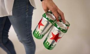 "Heineken's recyclable cardboard can ""toppers"""