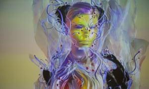 Björk as an ethereal avatar of herself