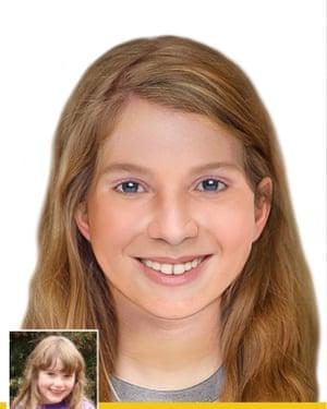 An age progressed photograph of Leela McDougall