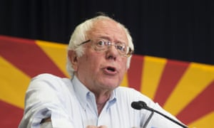 Bernie Sanders speaks during a rally for Hillary Clinton.