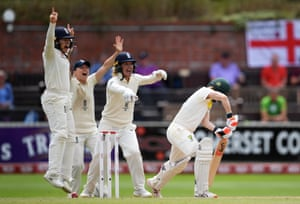 Sarah Taylor, Tammy Beaumont and Heather Knight of England celebrate the wicket of Racheal Haynes of Australia.