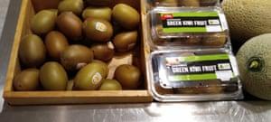 Kiwi fruit all wrapped up