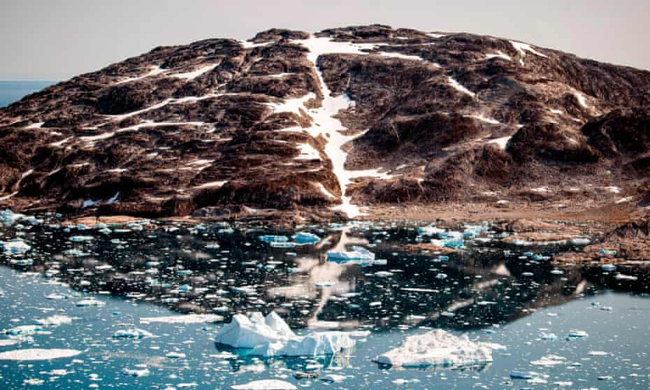 Dissolving world: icebergs floating along the eastern coast of Greenland.