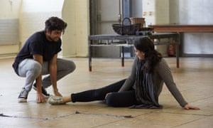 Reece Bahia and Mona Goodwin rehearse Laila: the Musical