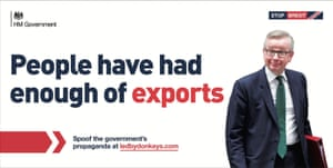 Michael Gove, tired of exports.